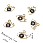 6pcs)Attractive eyes charm