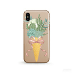 Cactus Icecream クリアソフト ケース  [ iPhone5~iPhoneXS, iPhoneXS Max/ XR & Samsung Android ]