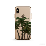 Tropical Palm Tree クリアソフト ケース  [ iPhone5~iPhoneXS, iPhoneXS Max/ XR & Samsung Android ]