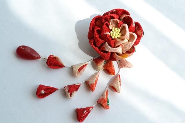 tumami*牡丹 2way飾り