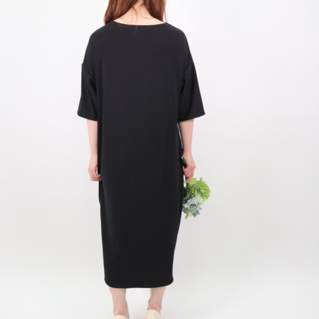 【KNOTTED DRESS】color:black