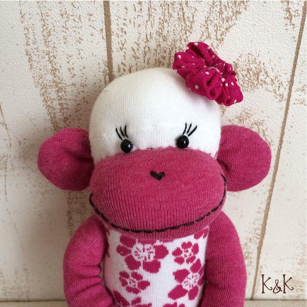 アロハソックモンキー(ピンク) 女の子 #108