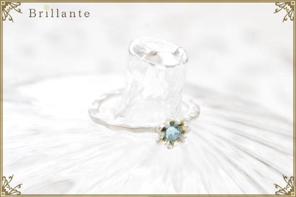 petit florence ring (MS-aquamarine)