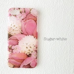 iPhone ケース ❤︎  tulip × cherry blossom