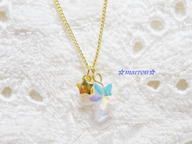 ☆twinkle little stars☆スワロネックレス