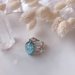 light blue  and silver ring