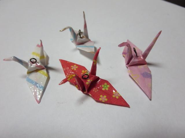 クリスマス 折り紙 鶴の折り紙 : minne.com