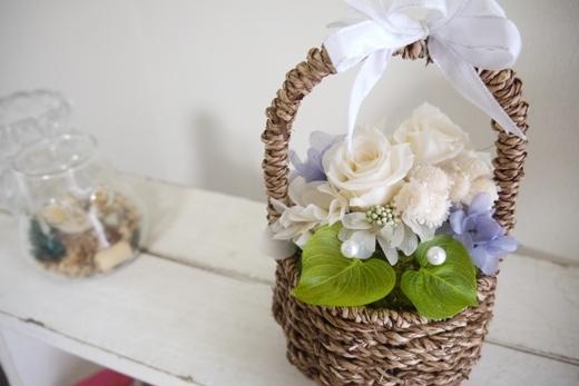 花かごのリングピロー