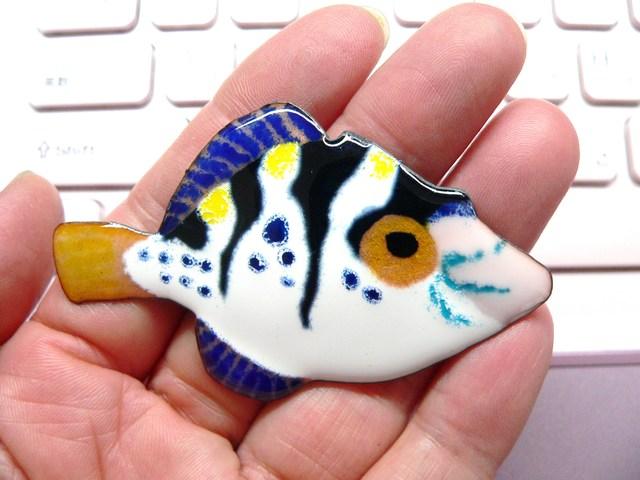七宝焼のお魚・ノコギリハギ