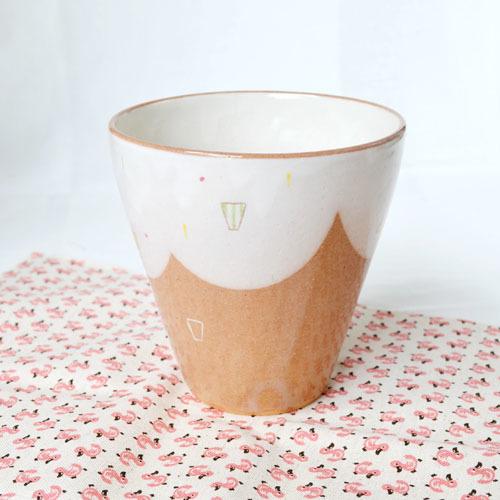 ロングカップ(柄/緑)