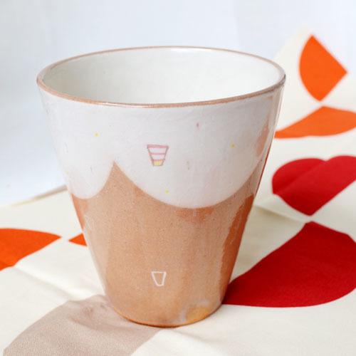 ロングカップ(柄/ピンク)