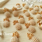 【2個】white Pineapple Charm