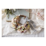 natural wreath◎pink  beige