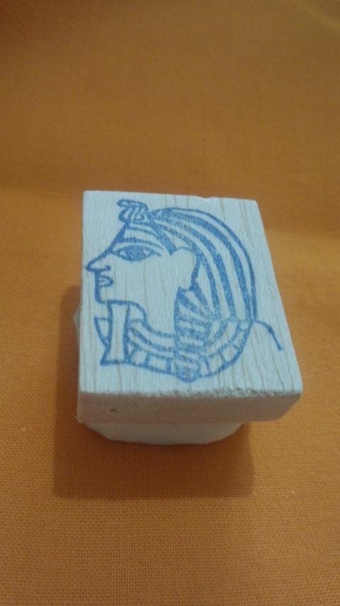 古代エジプトのファラオ/消しゴムはんこ