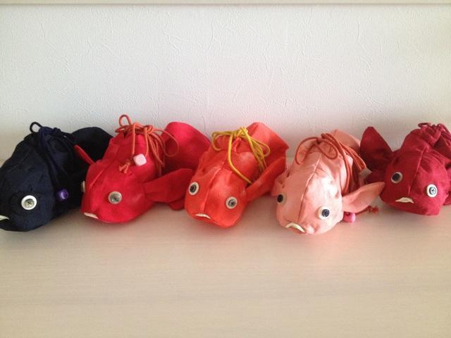 《Rさまオーダー》》金魚の巾着(赤)