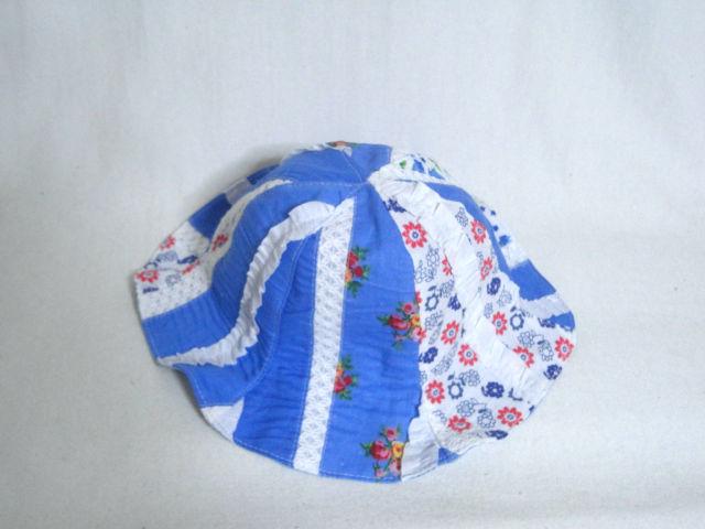 ブルー花柄パッチワークチューリップ46 セール