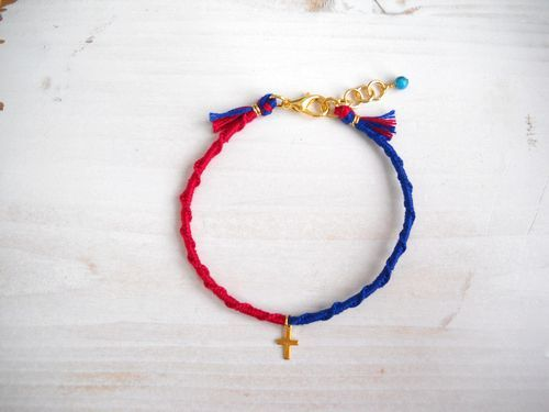MICANGA BRACELET red×blue†