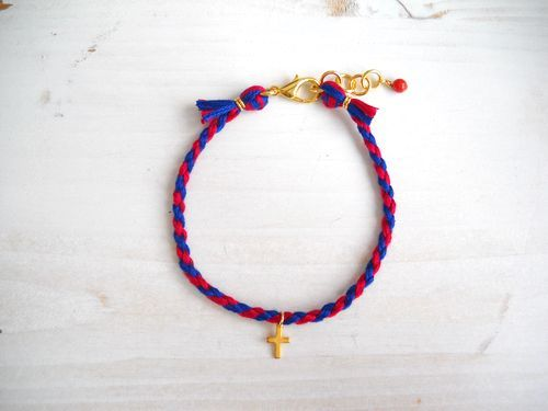 MICANGA BRACELET †red×blue