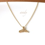 Whaletail Gold Simple Necklace