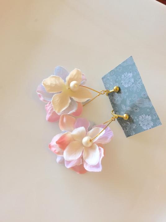 紫陽花イヤリング