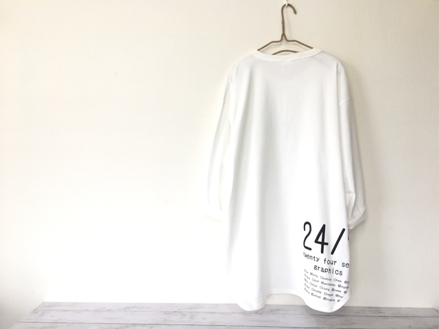 cfb8d17e5b11c 大きめが可愛い!ベースボールTシャツ (オフホワイト)メンズXL/大きいサイズ 白T 男女兼用 レディース