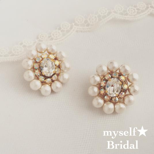 Bridalオーバルイヤリング