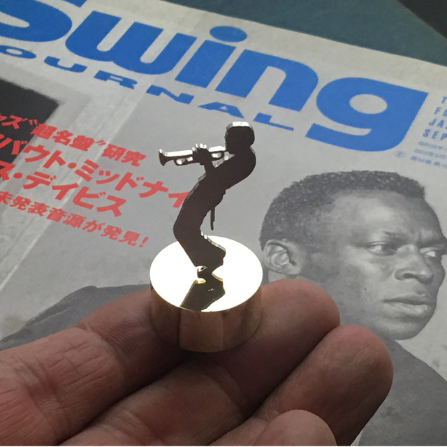 Miles Mini Paper Weight Jazz Silver + Brass マイルスデイビス
