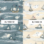 USAコットン moda 「Ahoy, Me Hearties by  Janet Clare」(1432-12(A) / 14(B) )