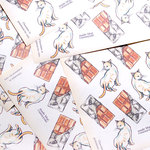 Chocolate cat  - Wrapping paper -