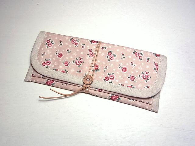 ぺたんこ長財布 「Cute Rose」
