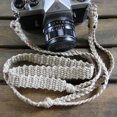 麻紐ヘンプカメラストラップA(2重リング)