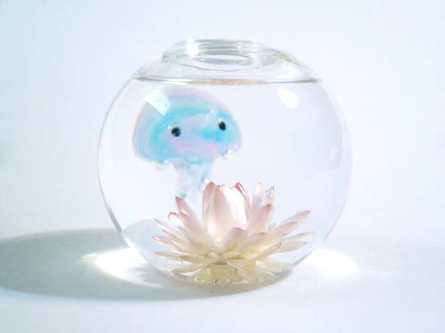 ぷちアクアリウム くらげちゃん★花とクラゲ ボール型