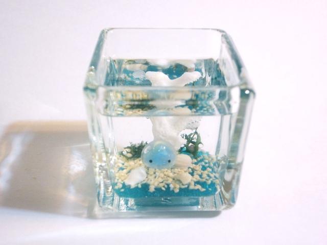 クラゲアクアリウム ぷちくらげちゃん ミニ水槽 ブルーA