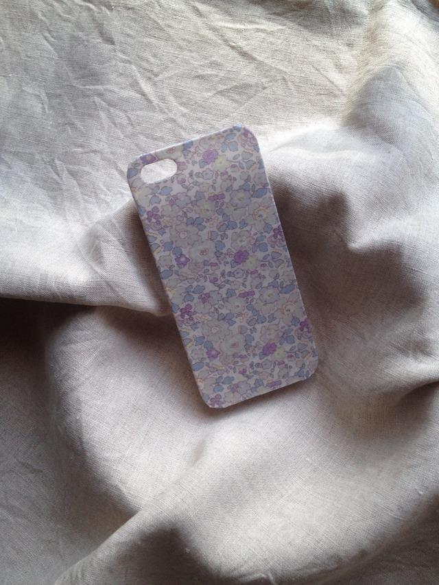 リバティ iphoneケース iphone5/5s (ベッツィ・アン 薄紫)