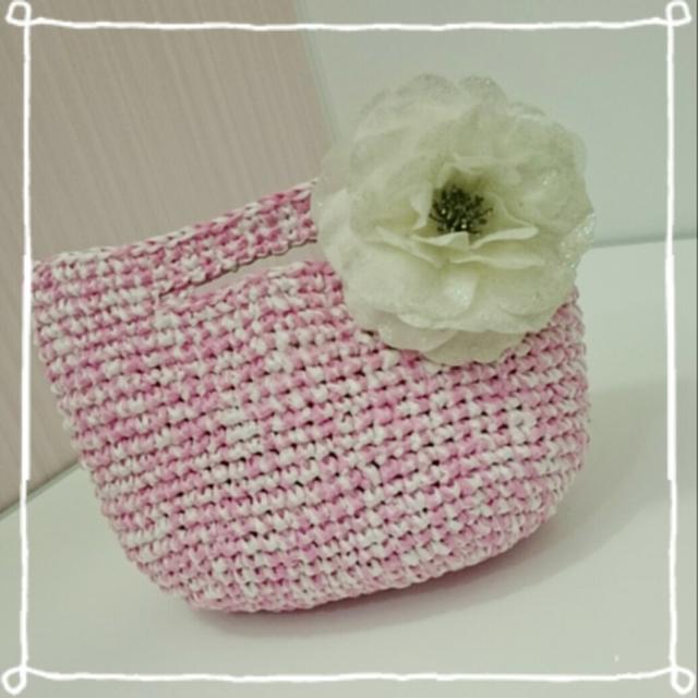 エコアンダリヤのサマーバッグ(ピンク)