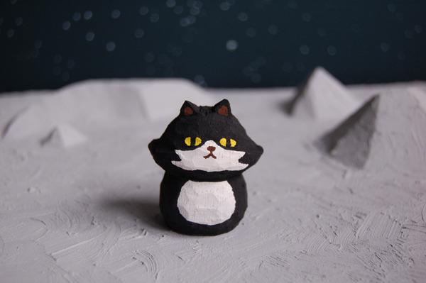 木彫り人形 UFOねこ  [MUF-002]