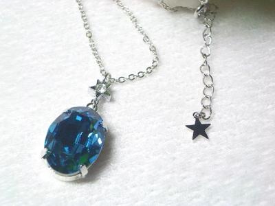 小さな星の輝きネックレス