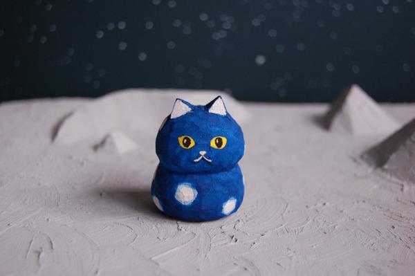 木彫り人形 きらめきキャット  [MUF-005]