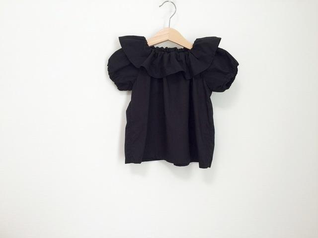 衿フリル綿フォーマルスモック サイズ90