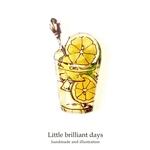Lemon&Lime tea brooch