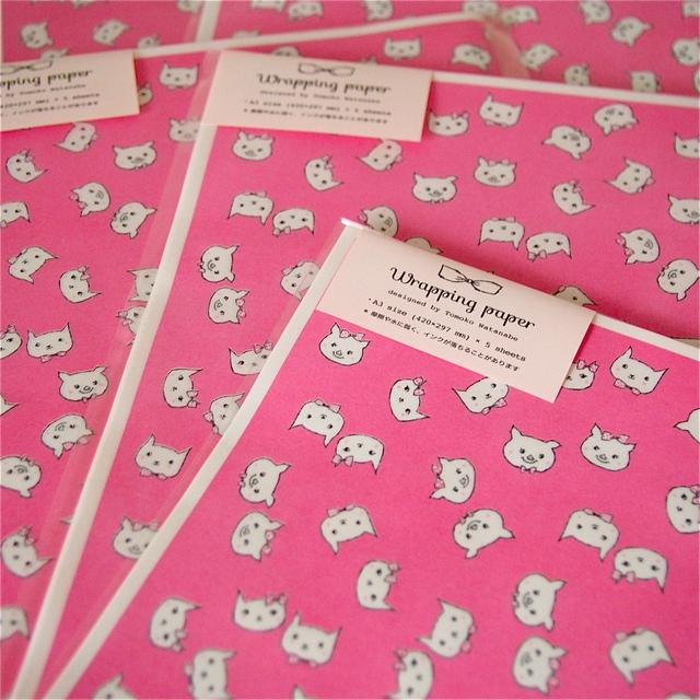 ラッピングペーパー - CATS & PIGS -
