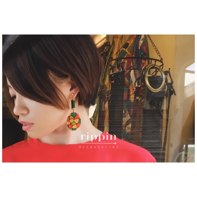 Stained Glasscolor Earrings
