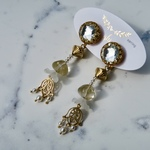 Paris Vintage button earrings