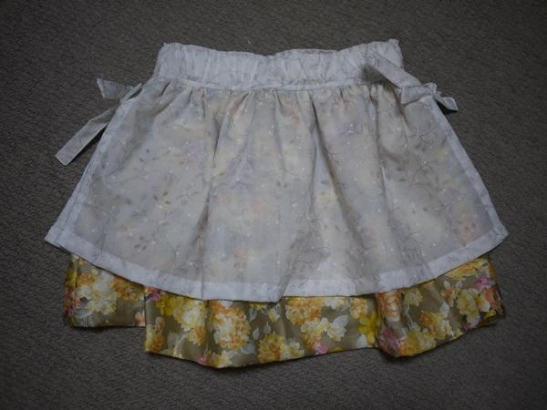 ギャザーいっぱい オーバースカートで可愛 く100センチ用
