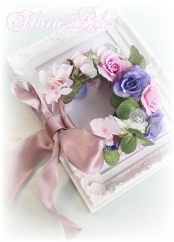 ウエディングを彩るリストレット パープル&ピンク#1【オーダー承ります】