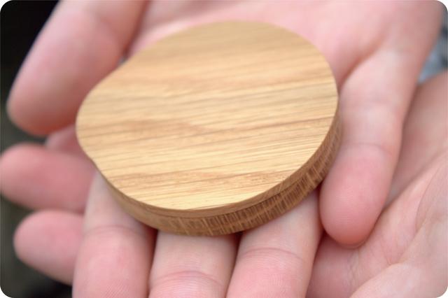 木で作ったシンプルミラー With cover
