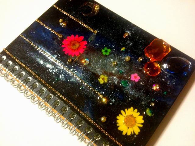 宇宙と花ノート?