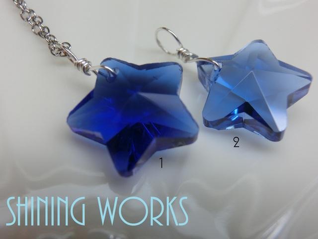 再販3:青い星〜blue star〜ネックレス