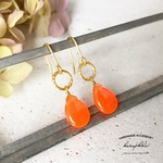 stone drop pierce/earring《orange》