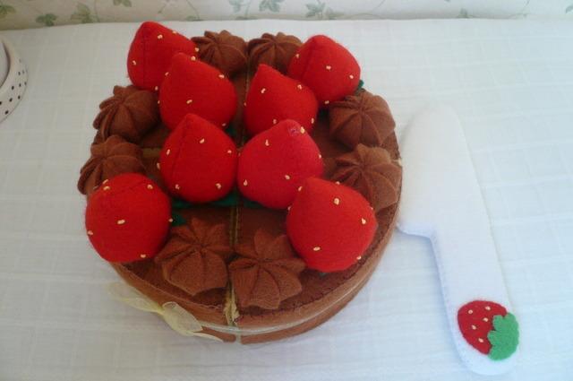 【送料無料】チョコレートデコレーションケーキ ほうちょうセット